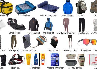 Nepal Trekking Equipment
